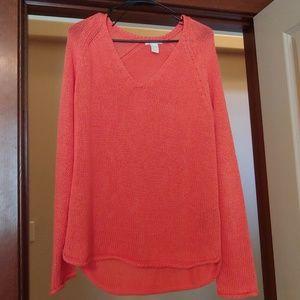 HM v-neck coral sweater